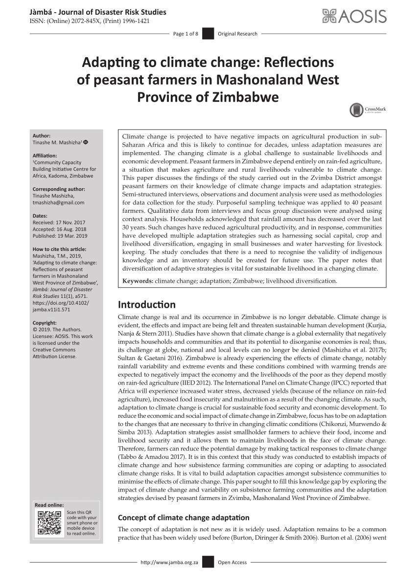 005 Research Paper Pdf Papers On Climate Change In Zimbabwe Imposing Full