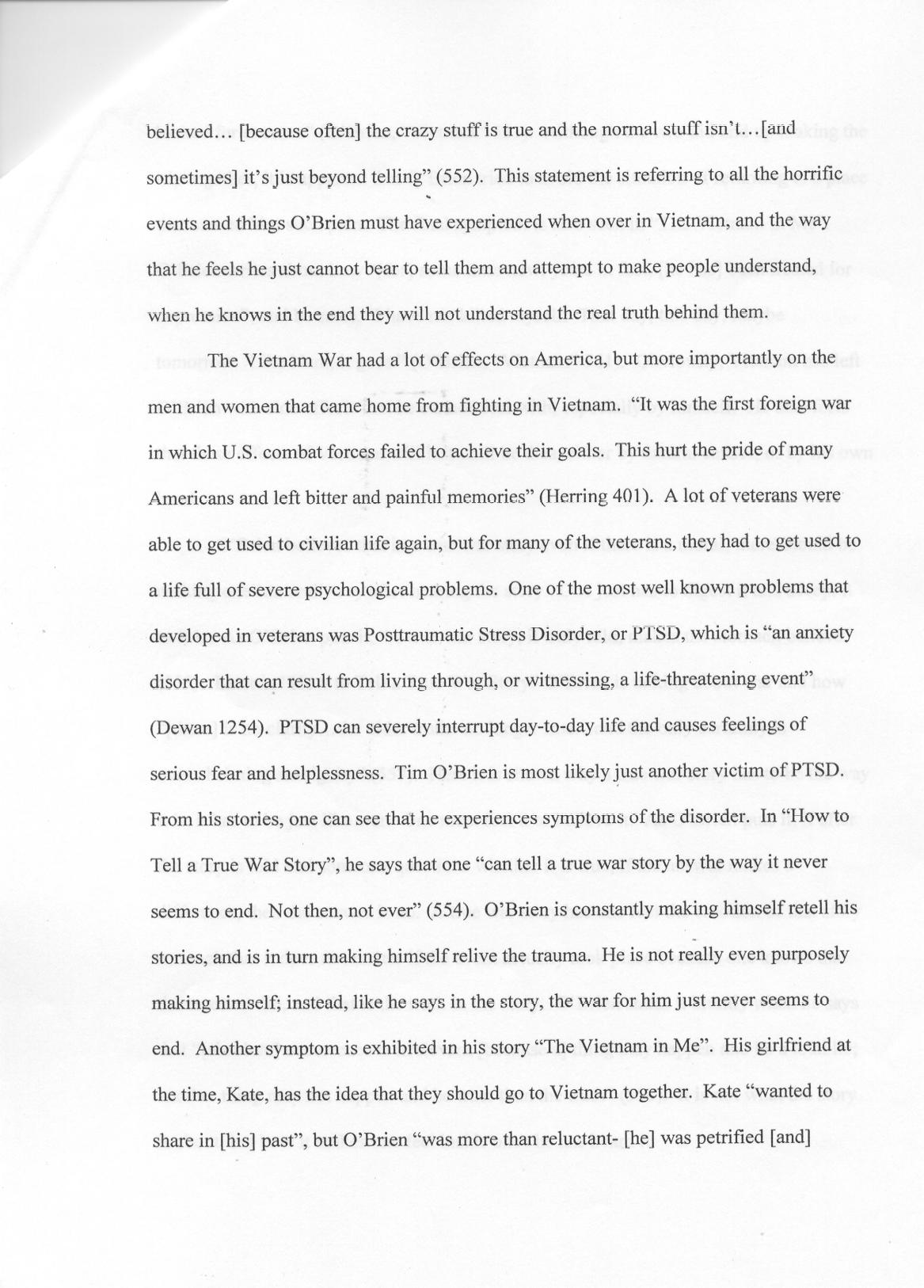 005 Research Paper Post Traumatic Stress Disorder Outline Ess2ex1 4 Wondrous Topics Essay Full