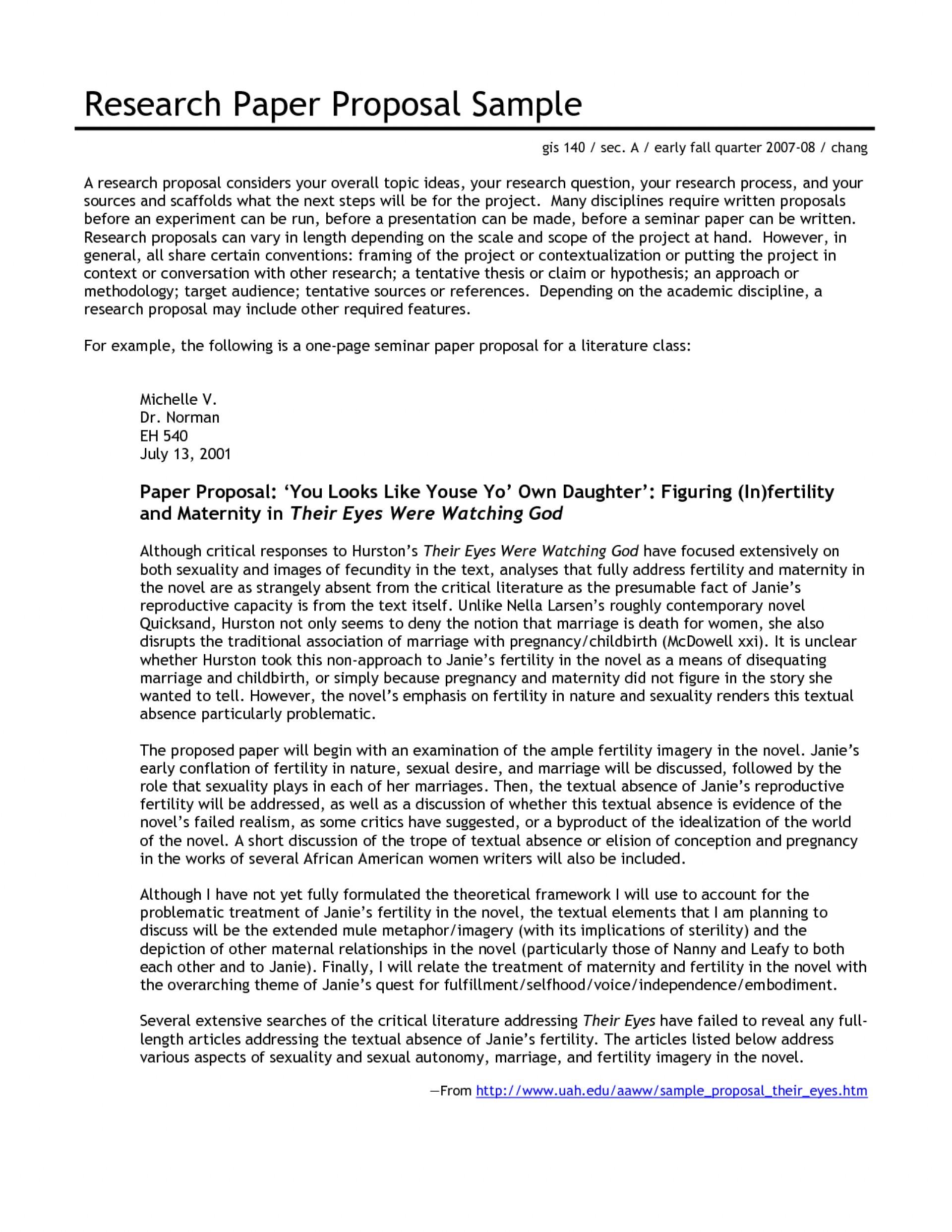 005 Research Paper Proposal 343597 Literature Outstanding Example 1920