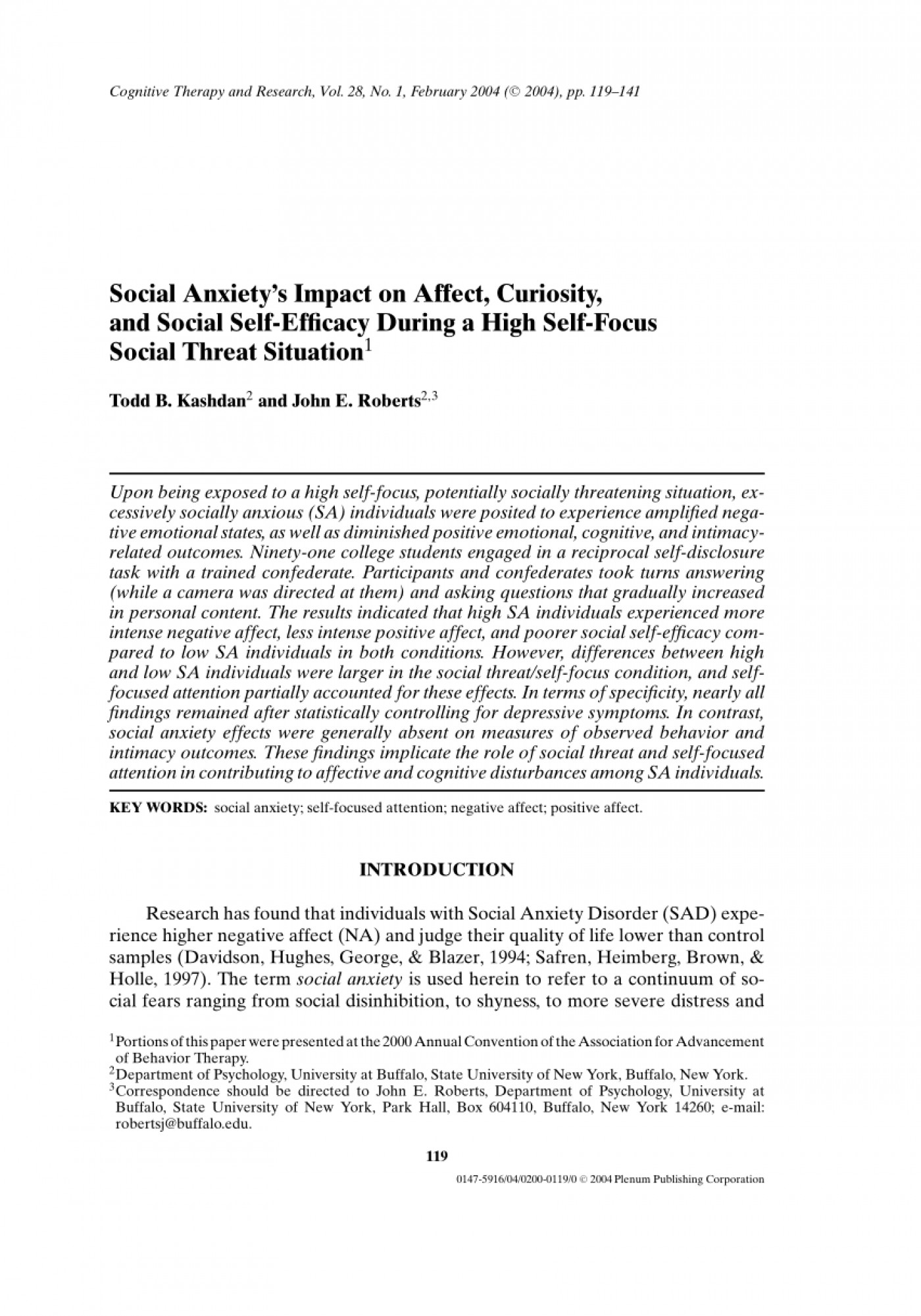 005 Research Paper Psychology On Social Anxiety Disorder Staggering 1400