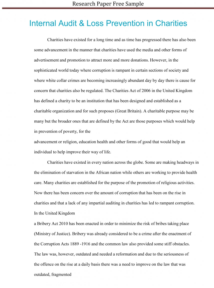 005 Research Paper Sample Of Staggering A Template Outline Format Mla Style
