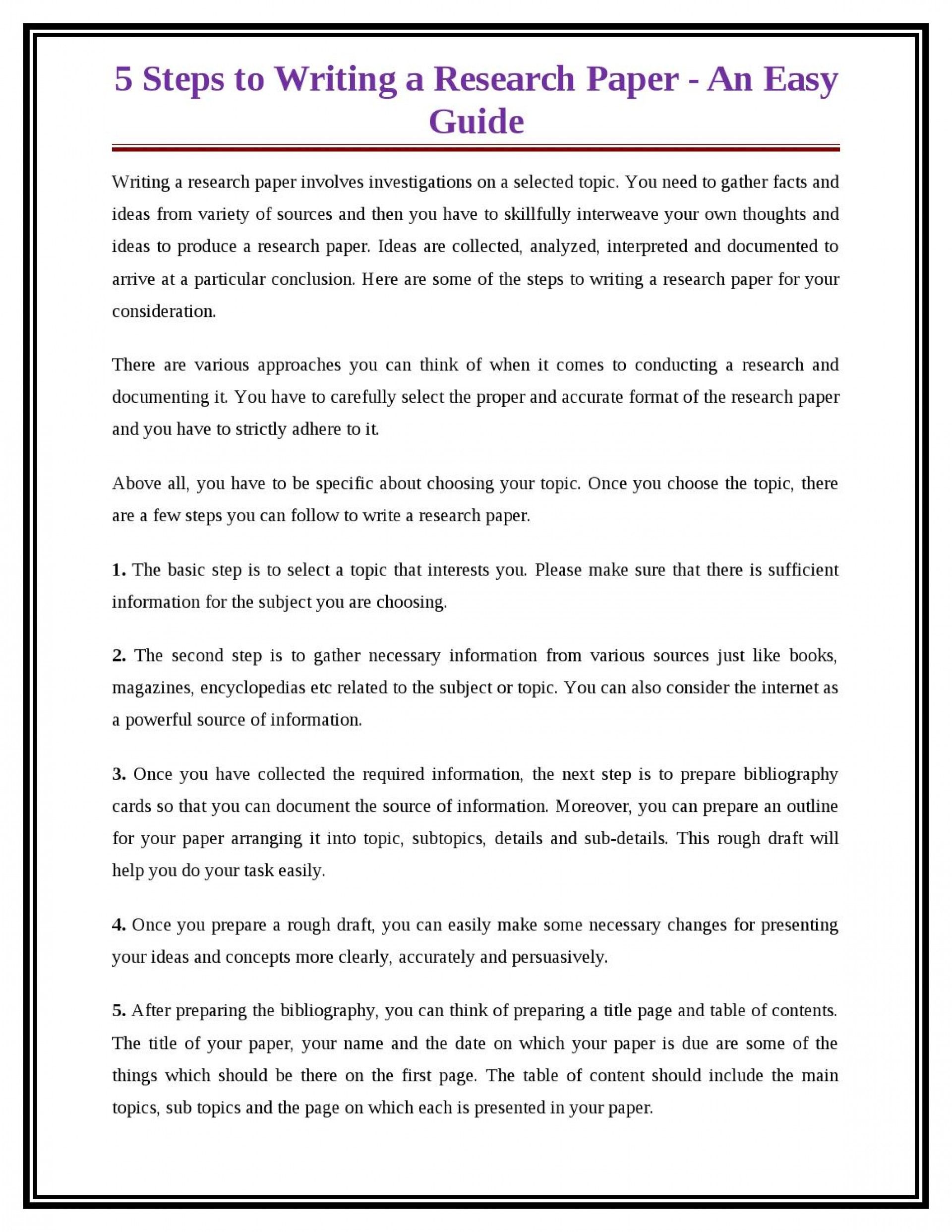 005 Research Paper Steps For Writing Page 1 Breathtaking A In Ppt 10 To Write Basic Easy 1920