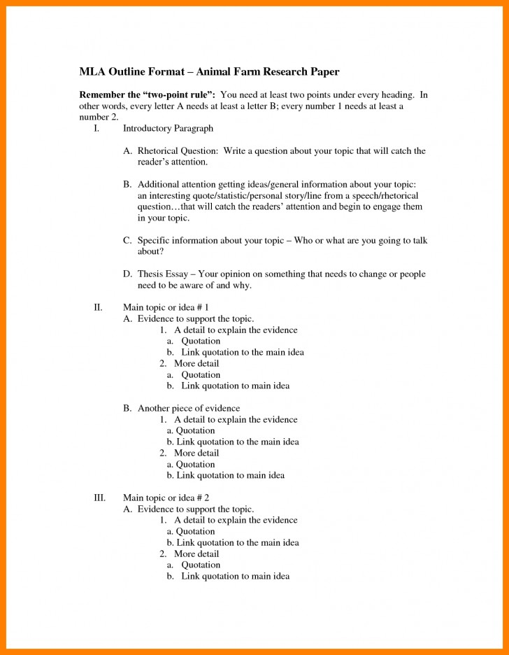 005 Research Paperne Bunch Ideas Of Mla Example Brilliant Best Paper Outline Template Pdf 728