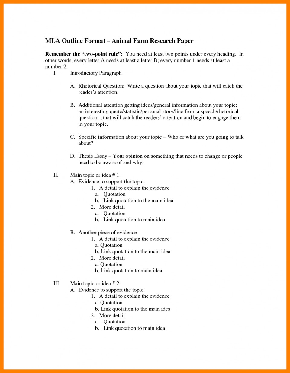 005 Research Paperne Bunch Ideas Of Mla Example Brilliant Best Paper Outline Template Pdf 960