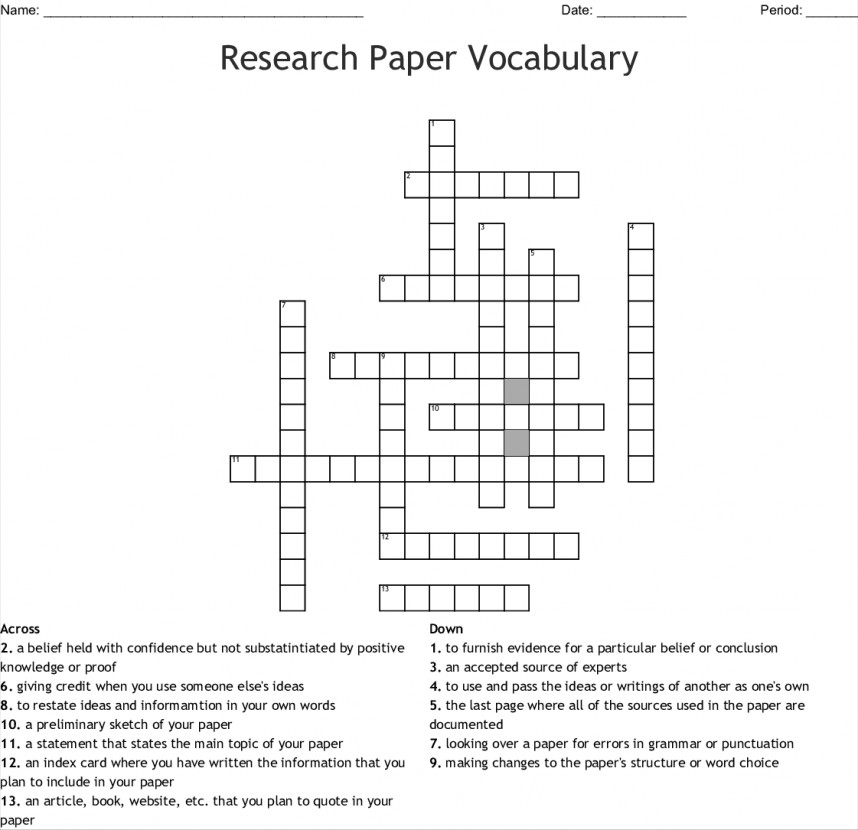005 Research Vocabulary 149348 Academic Researchs Crossword Awful Papers Clue Paper