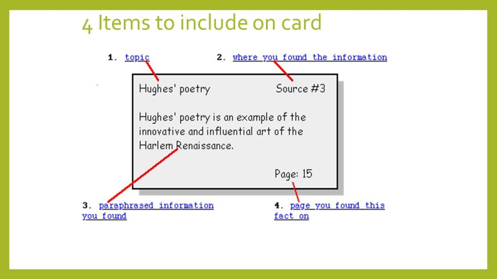 005 Slide 2 Notecards Research Phenomenal Paper For Mla Digital Large