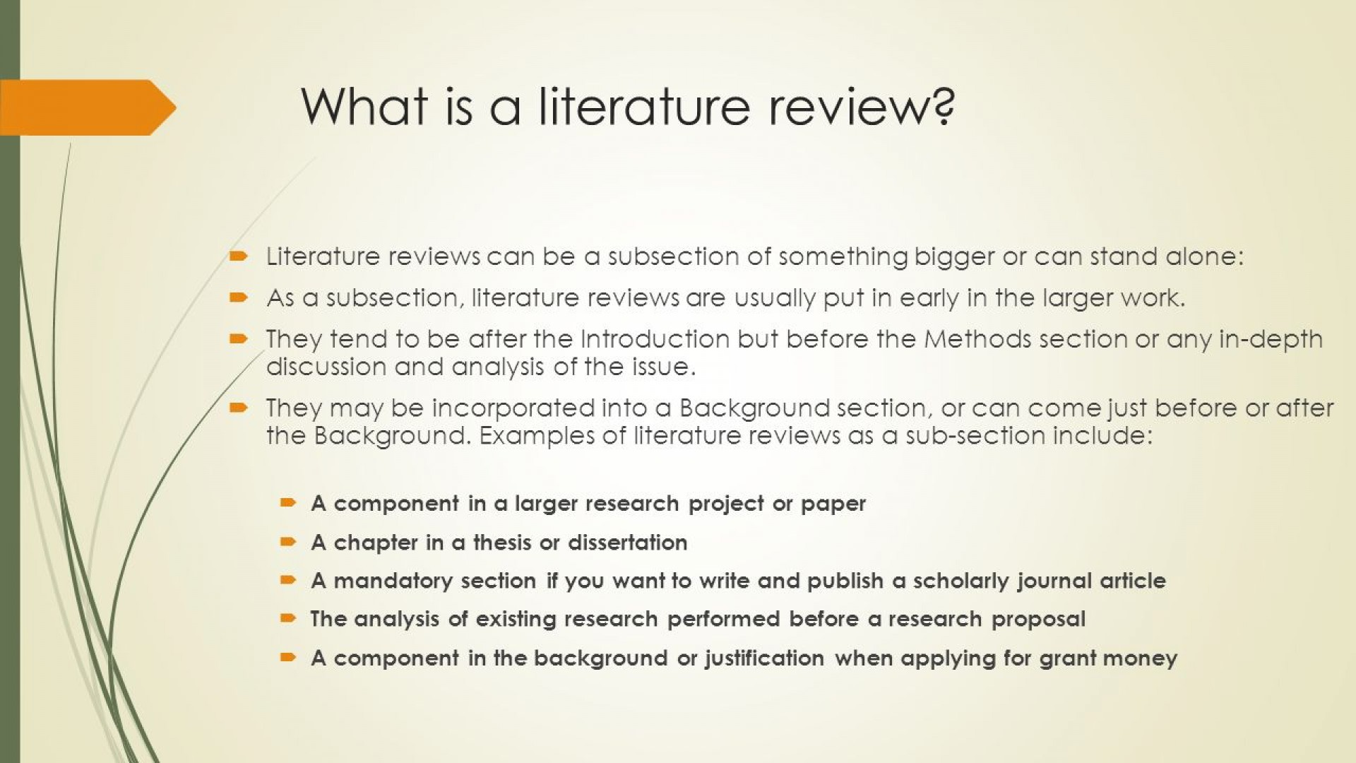 005 Slide 3 Define Literature Review In Research Remarkable Paper Definition Of What Is Pdf 1920