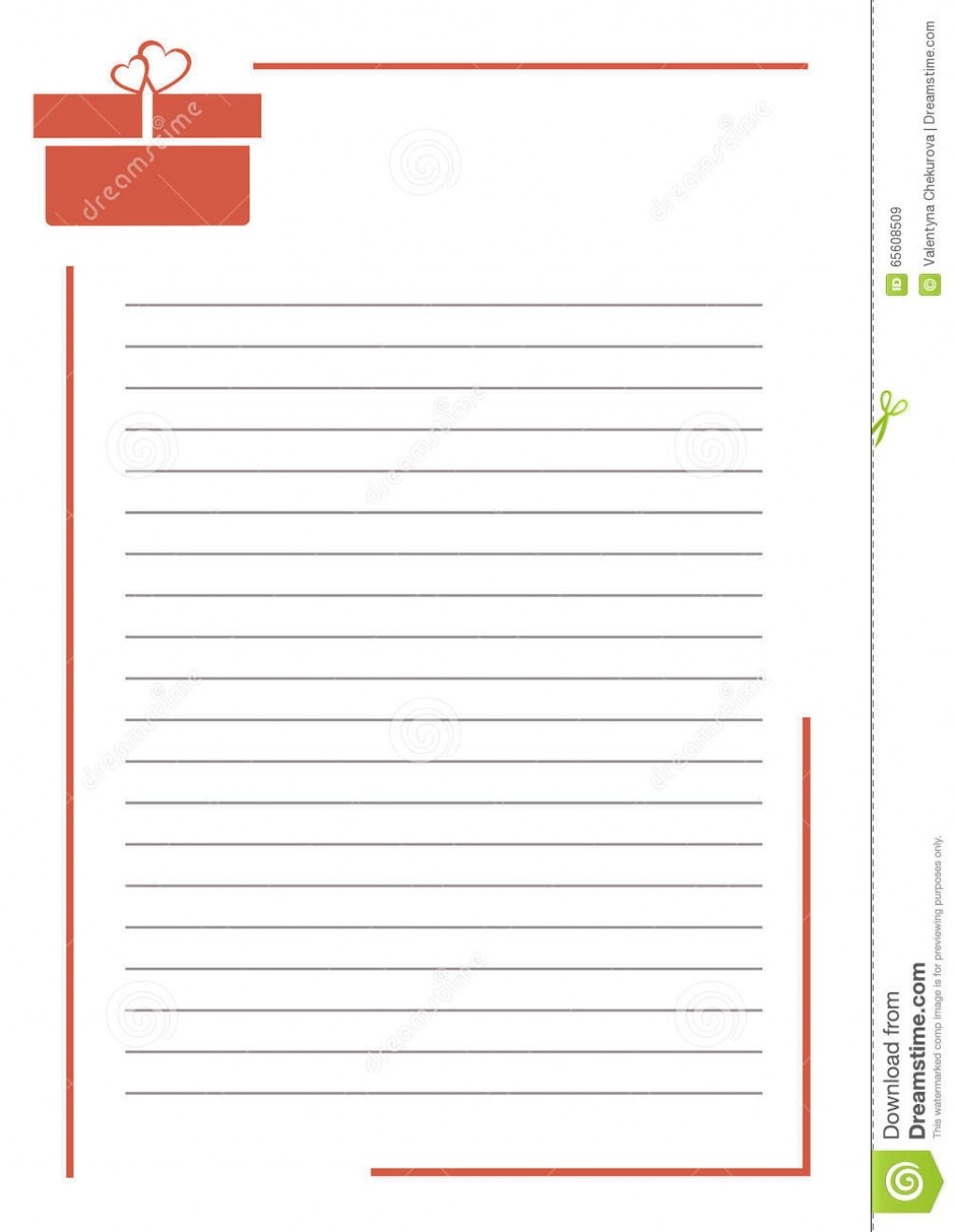 005 Vector Blank Letter Greeting Card White Paper Form Red Gift Box Lines Border Format Size Research Note Cards Examples For Unique A Example Template Large