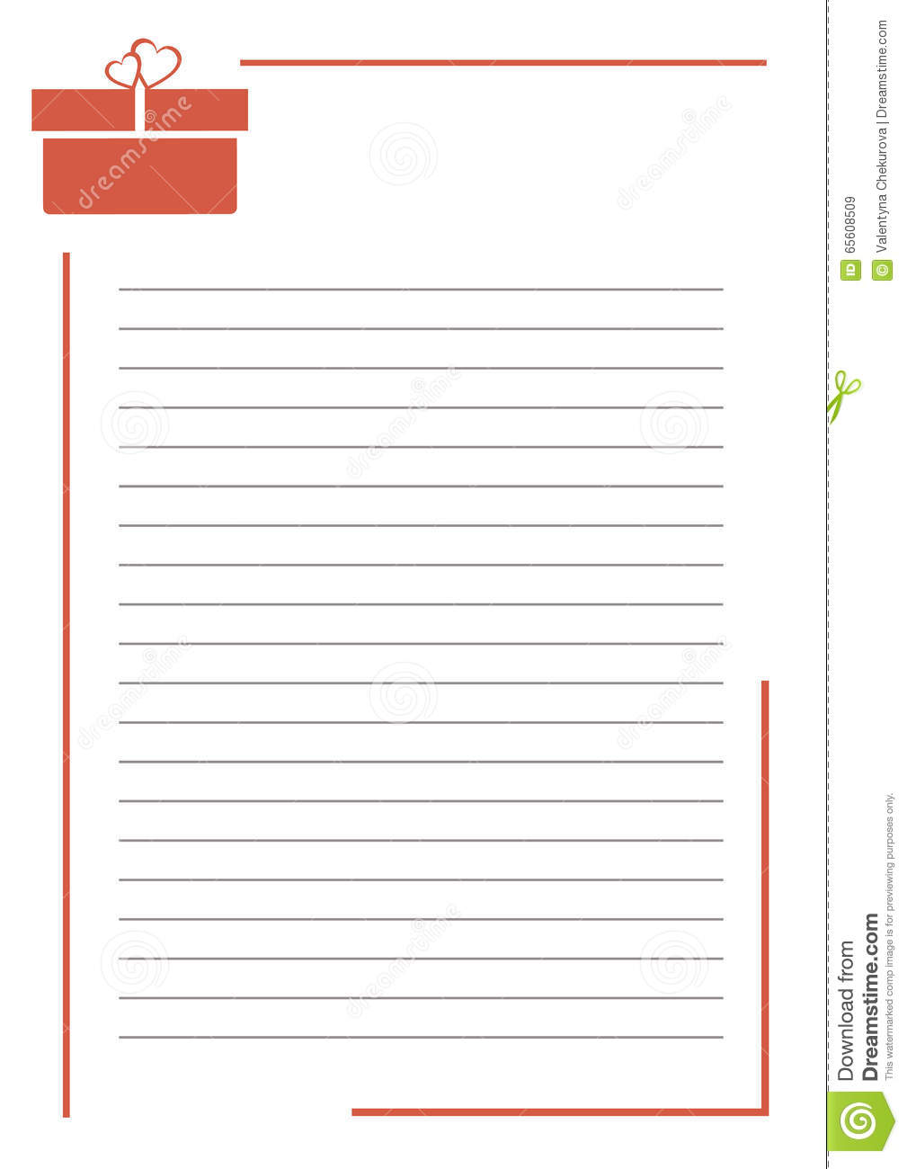 005 Vector Blank Letter Greeting Card White Paper Form Red Gift Box Lines Border Format Size Research Note Cards Examples For Unique A Example Template Full