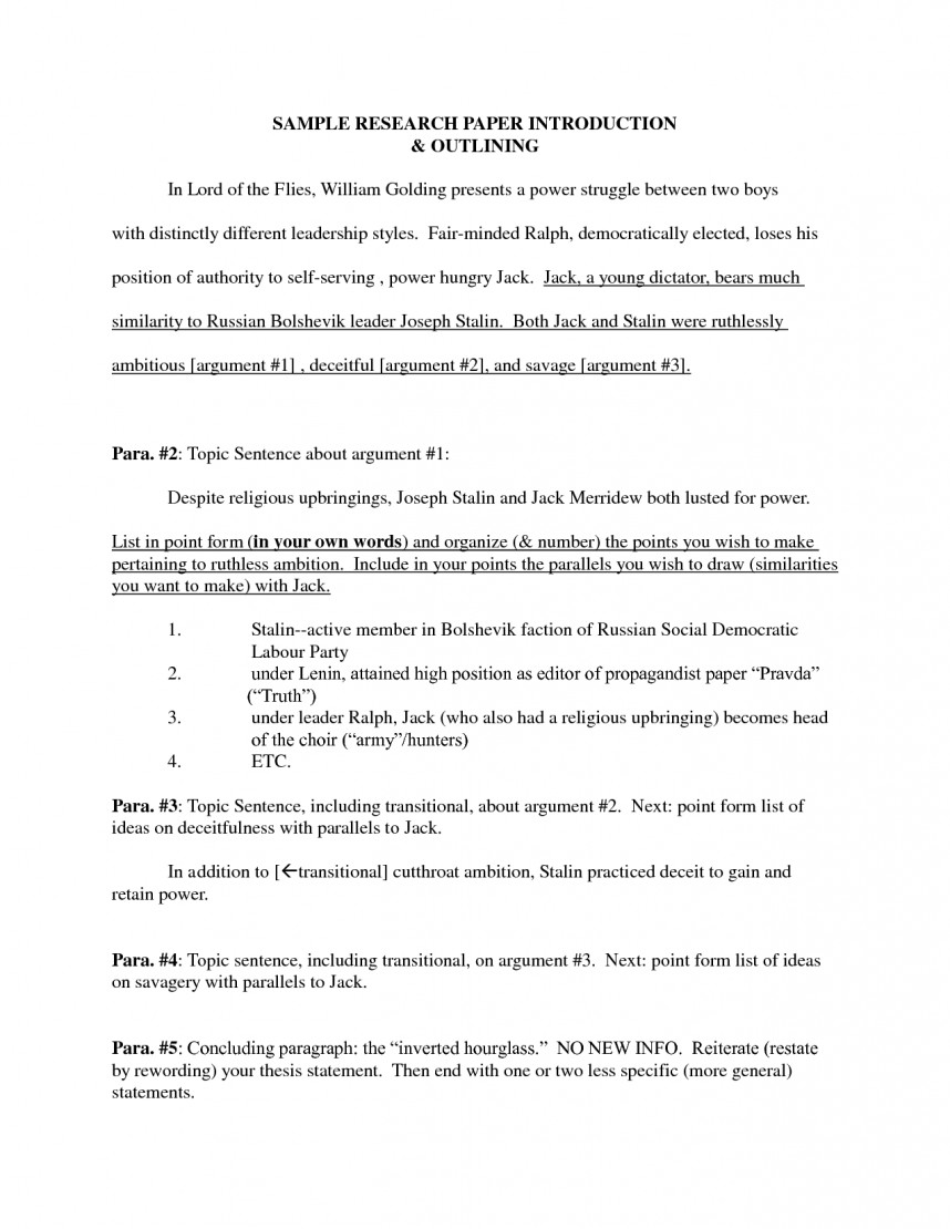 005 Writing An Introduction To Research Paper Top A How Write Scientific Intro Steps In