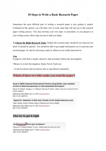 006 10stepstowriteabasicresearchpaper Thumbnail Research Paper How To Sensational Start A On Person Writing Write Introduction Pdf 360