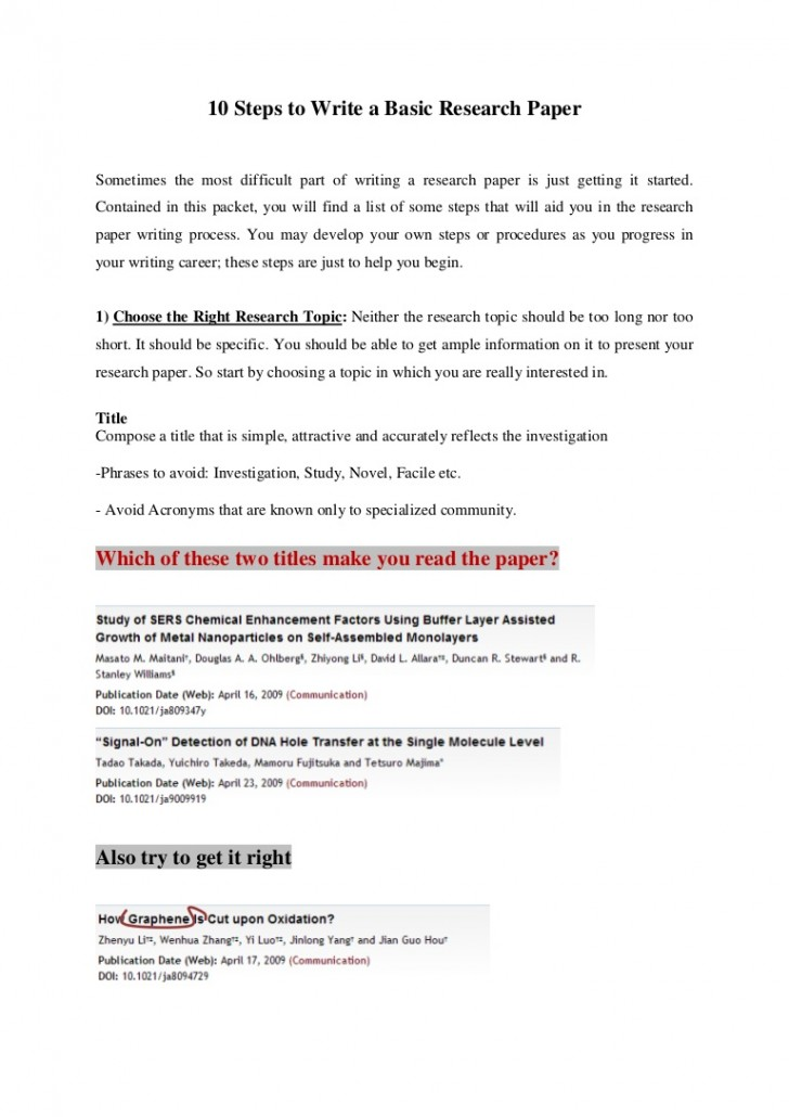 006 10stepstowriteabasicresearchpaper Thumbnail Research Paper How To Sensational Start Way Presentation A Intro Example 728
