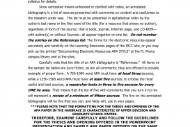 006 Apa Format Annotated Bibliography Example 82131 Research Outstanding Paper Reference Page References