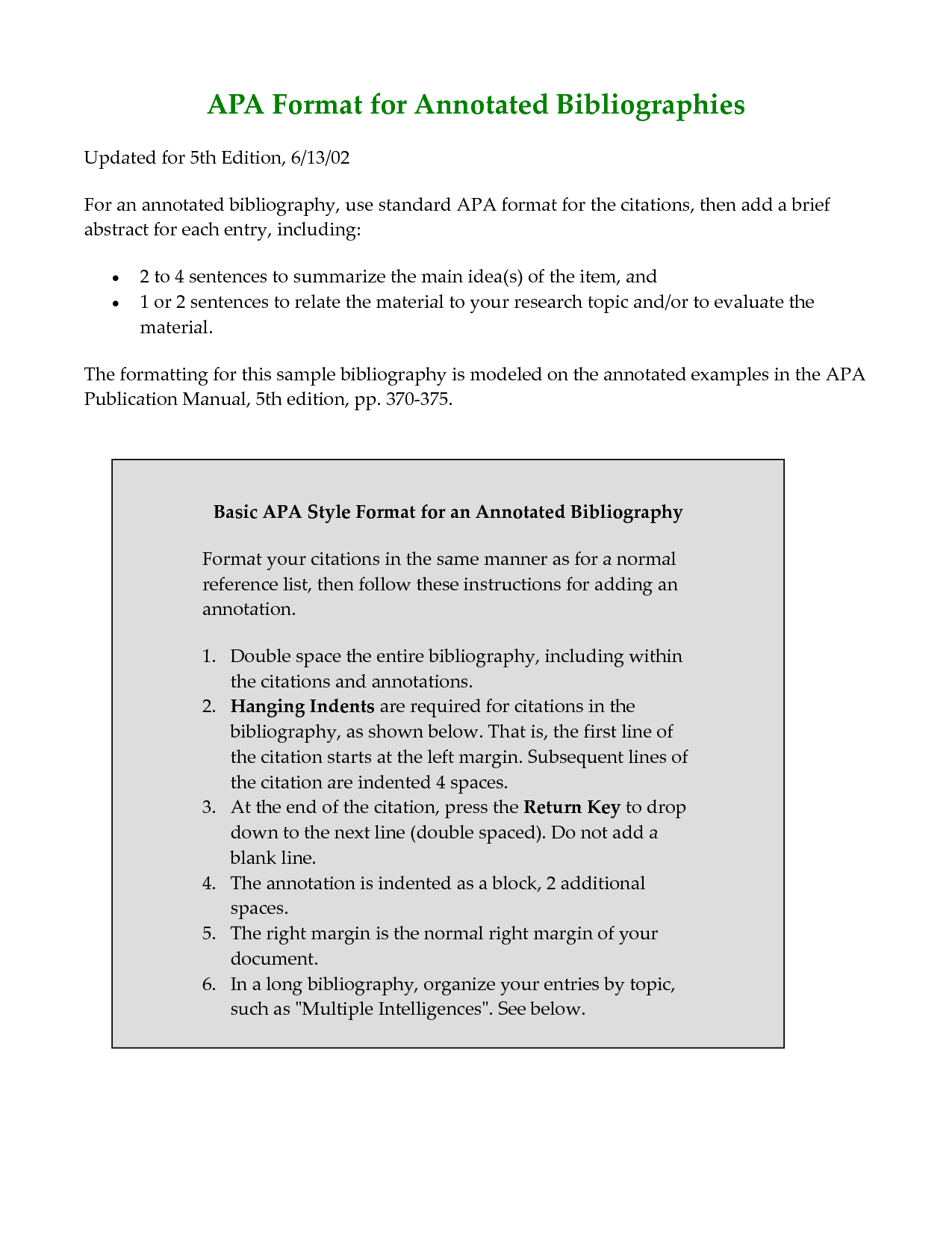 006 Apa Format Research Paper Reference Page Unique References List Full