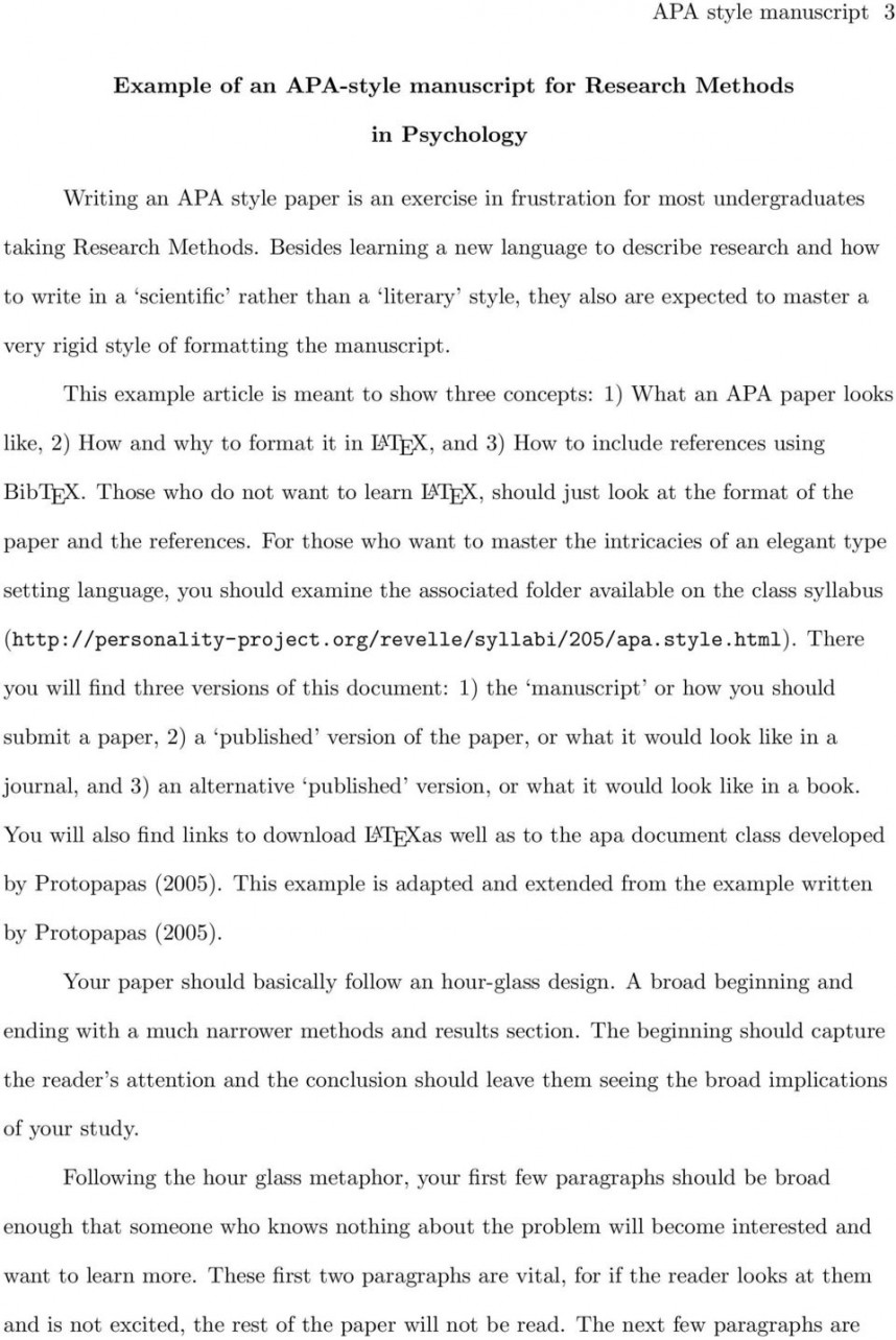 006 Apa Research Paper Results Section Sample Page 3 Stirring