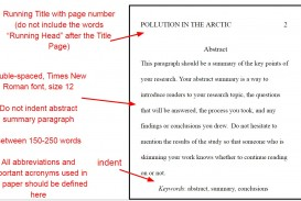 006 Apaabstractyo Apa Format For Research Imposing Paper Citation Example Sample