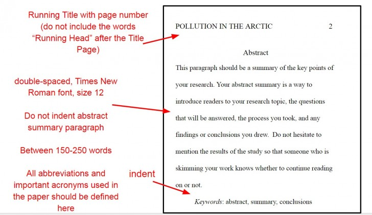 006 Apaabstractyo Apa Format For Research Imposing Paper Title Page Example References 728