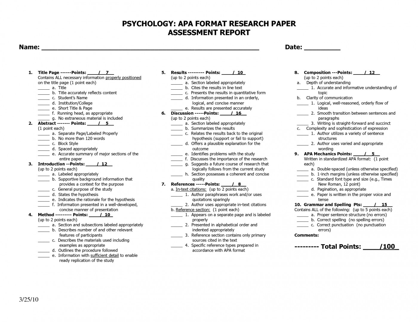 006 Apamat Of Psychology Research Paper Marvelous Apa Format 1400