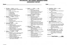 006 Apamat Of Psychology Research Paper Marvelous Apa Format