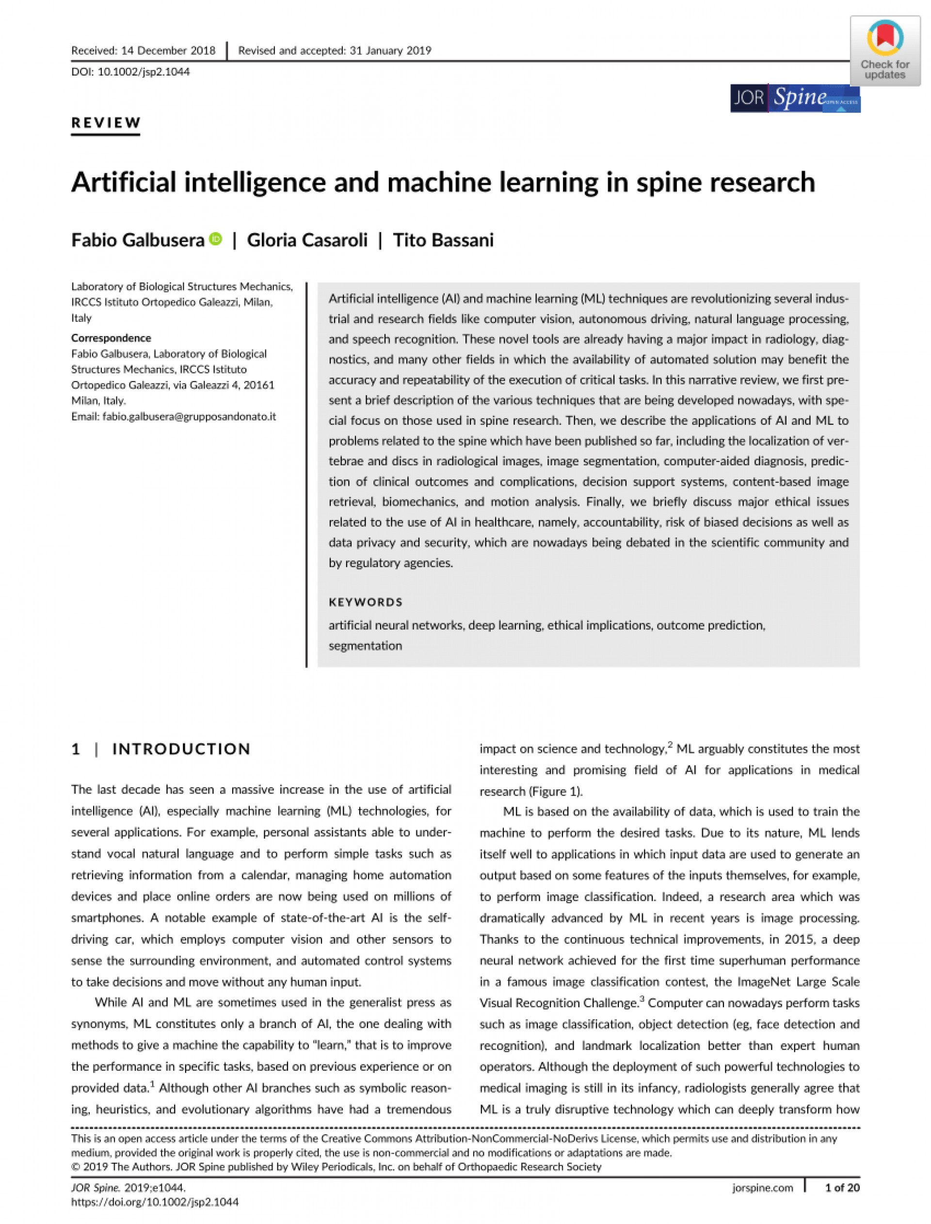 006 Artificial Intelligence Research Paper Awful 2019 1920