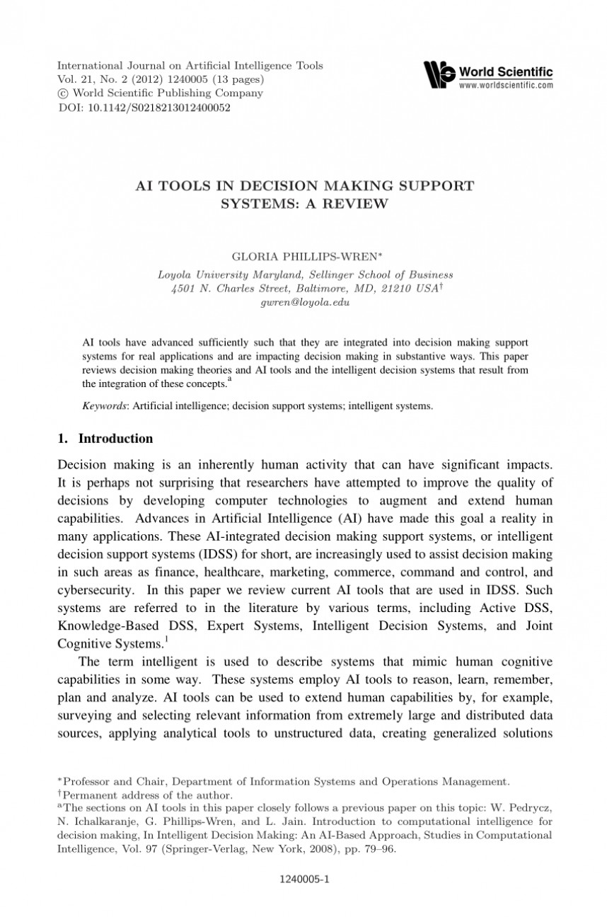 006 Artificial Intelligence Research Paper Pdf Impressive Articles On Latest Topics