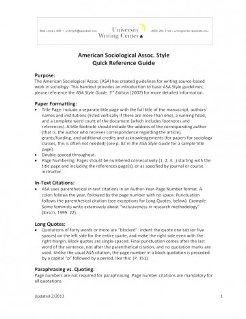 006 Asa Format Research Paper Example Writing Style Singular 360