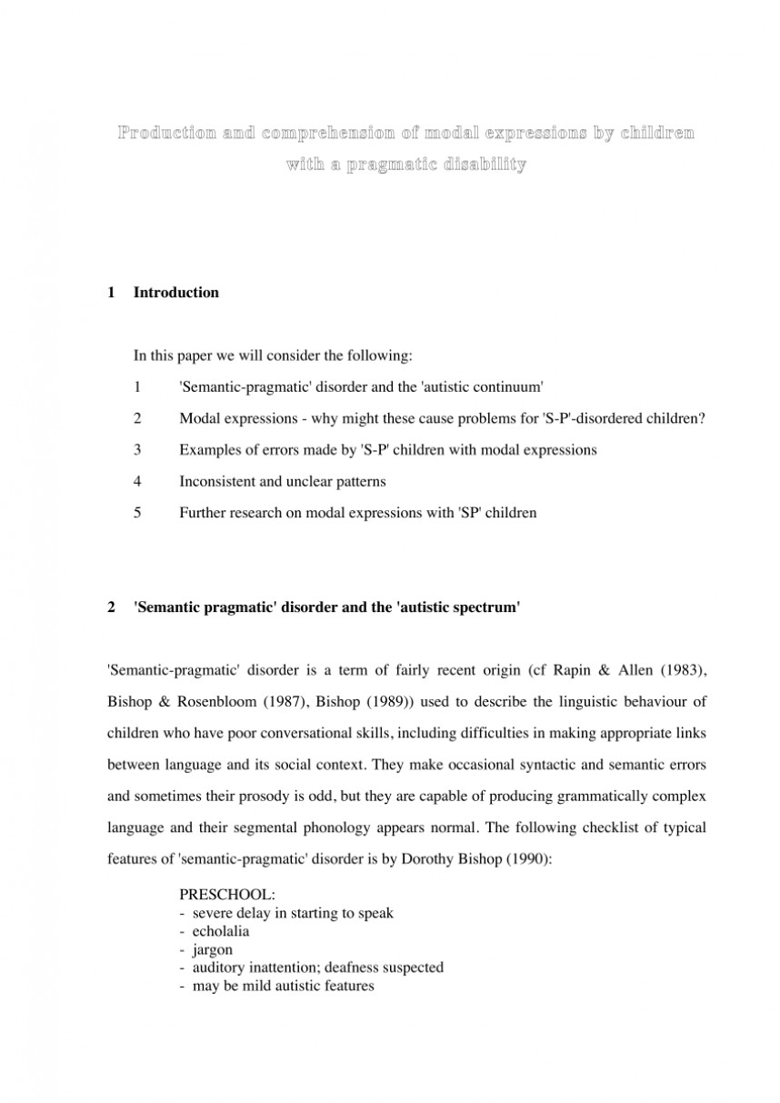006 Autism Research Paper Examples Top