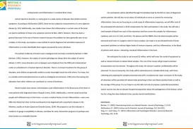 006 Autistic Disorder Apa Style Paper Research Phenomenal Autism Example About On In The Classroom Format