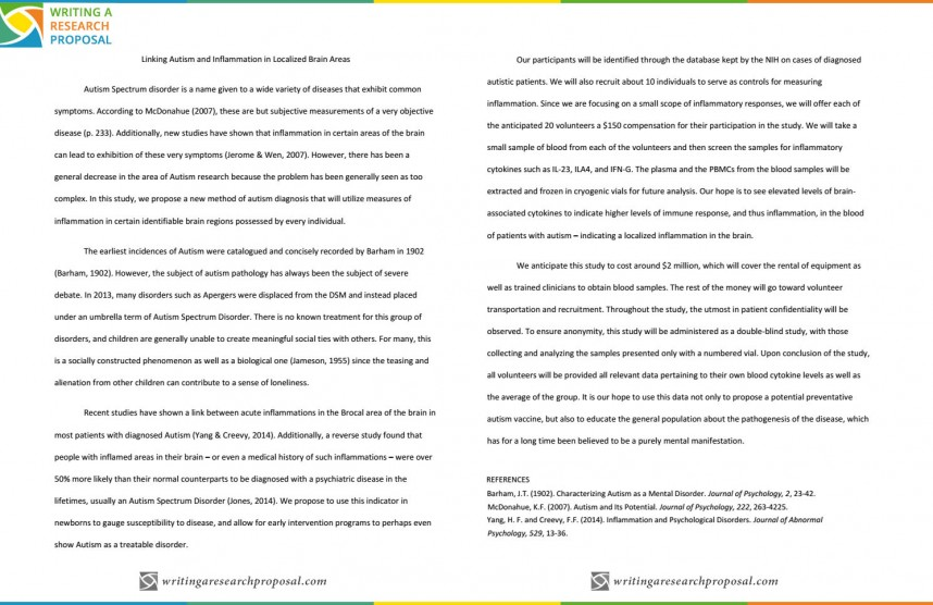 006 Autistic Disorder Apa Style Paper Research Phenomenal Autism On Outline And Early Intervention Example About