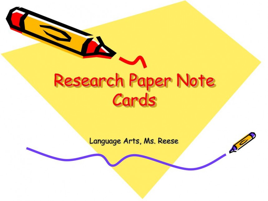 006 Bibliography Note Cards For Research Paper Magnificent
