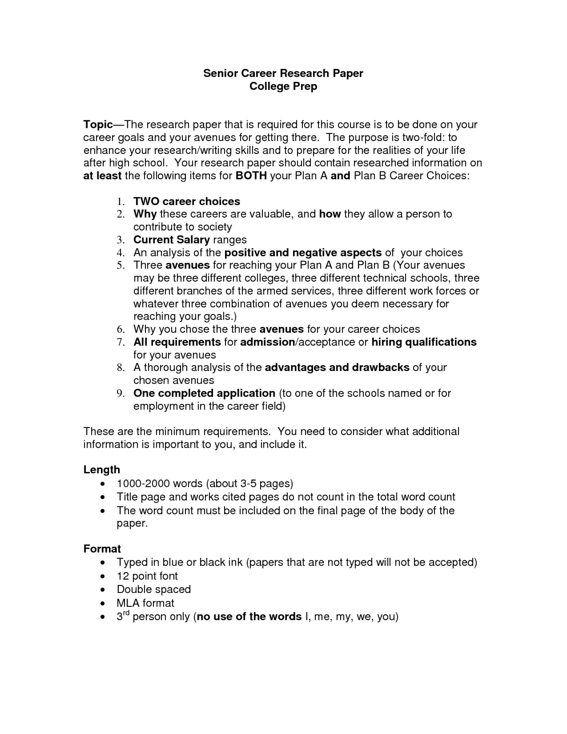 006 Career Research Paper Outline 477628 Example Top Apa 1920