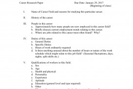 006 Career Research Paper Rubric Wondrous