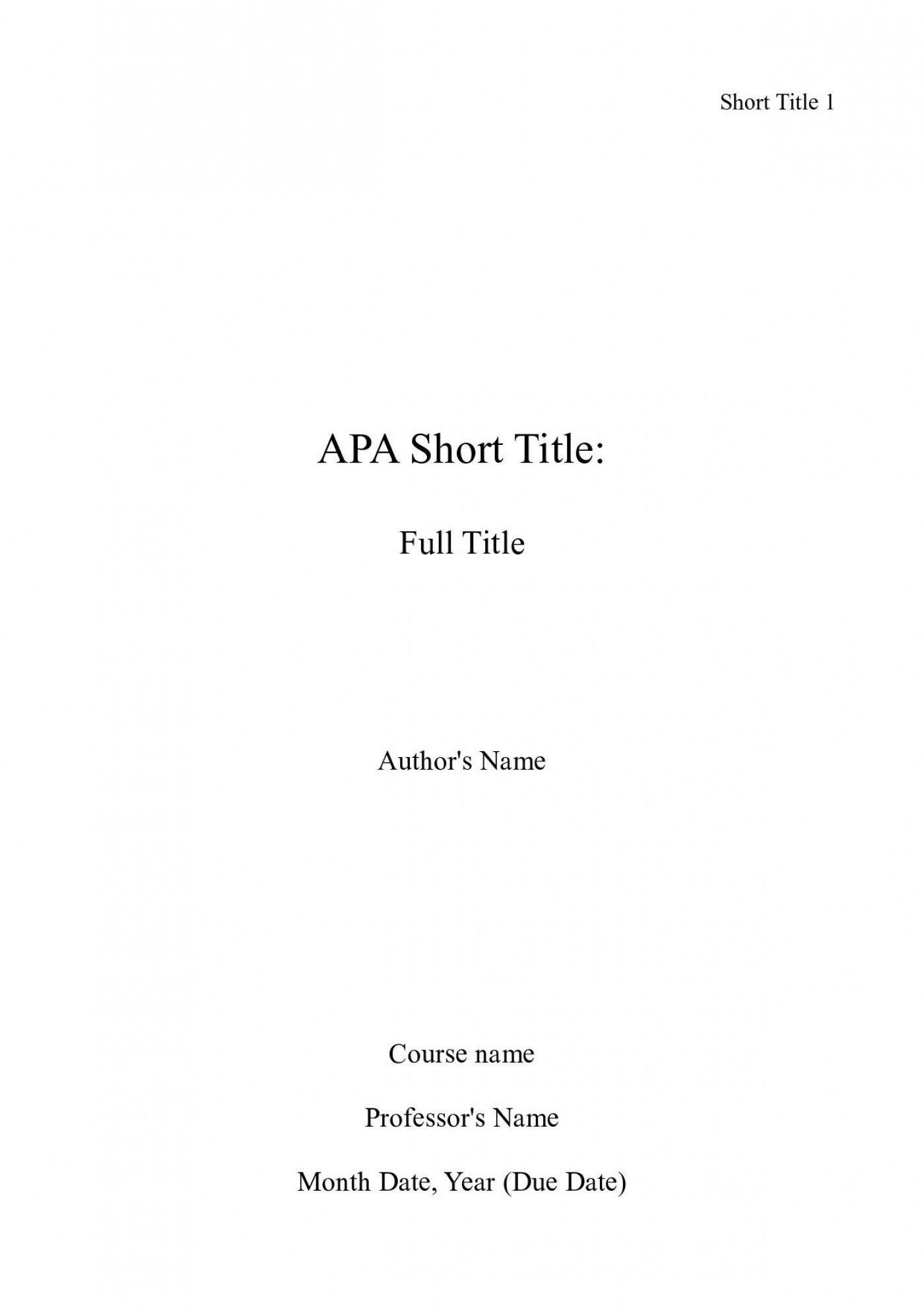 006 Cover Page For Research Paper Apa Incredible Format How To Do A 1400