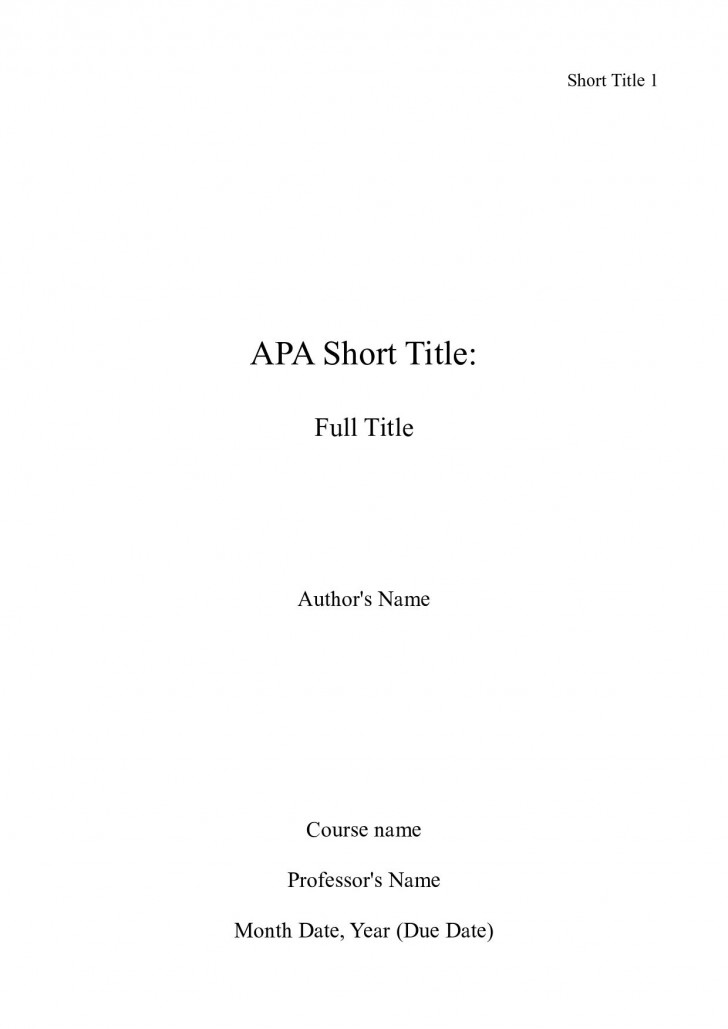 006 Cover Page For Research Paper Apa Incredible Format How To Do A 728