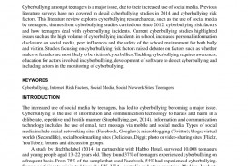 006 Cyberbullying Research Paper Example Breathtaking Sample