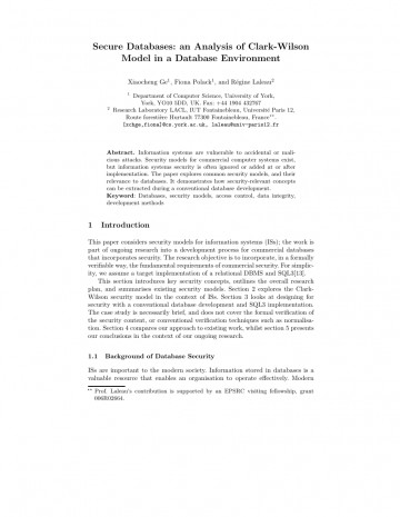 006 Database Security Research Paper Abstract Fascinating 360