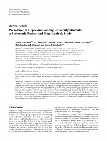 006 Depression Research Paper Introduction Pdf Fearsome 360