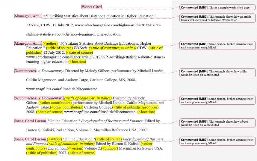 006 Do Works Cited Page Research Paper Example Unique A Comes Where In Properly Formatted For About The Little Rock Nine