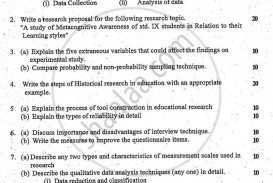 006 Educational Research Past Exams University Of Mumbai Master Ma Methodology Education Yearly Pattern Part 2015 2b713b81467684597a5dc66013a64e0a3 Amazing Exam Papers