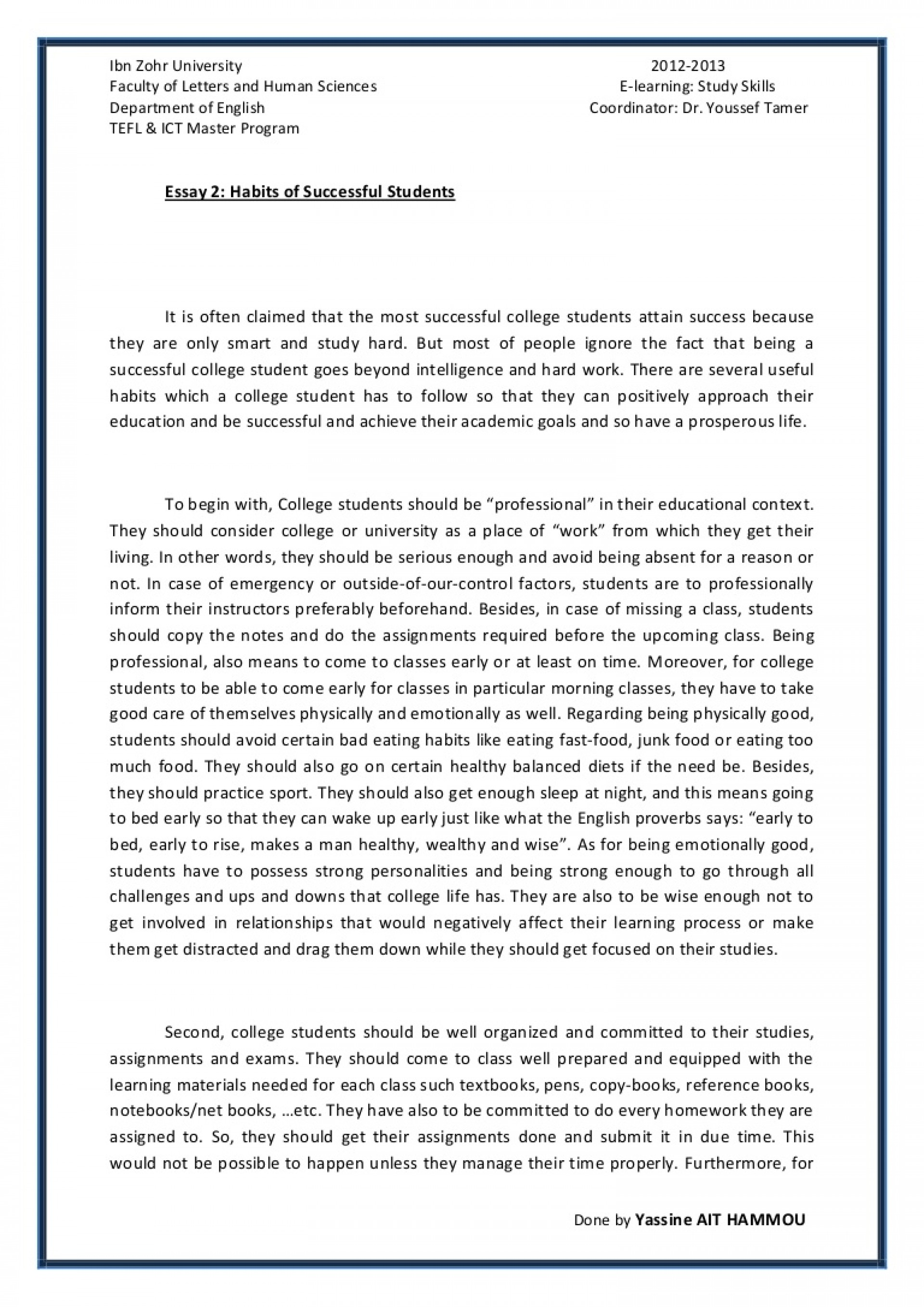 006 Essay2 Succesfulcollegestudentshabitsbyyassineaithammou Phpapp01 Thumbnail 4cbu003d1366110001 Cover Page For Research Paper Awful Harvard 1920