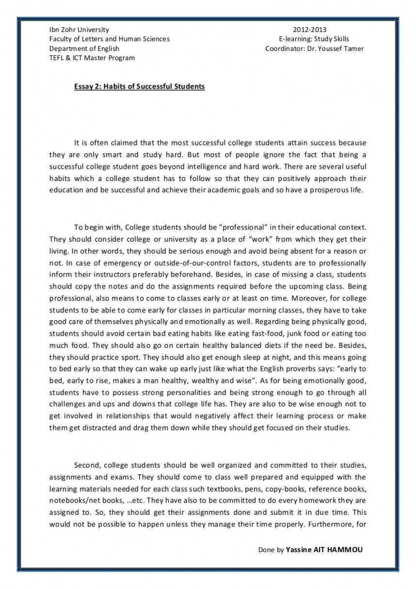 006 Essay2 Succesfulcollegestudentshabitsbyyassineaithammou Phpapp01 Thumbnail 4cbu003d1366110001 Cover Page For Research Paper Awful Harvard
