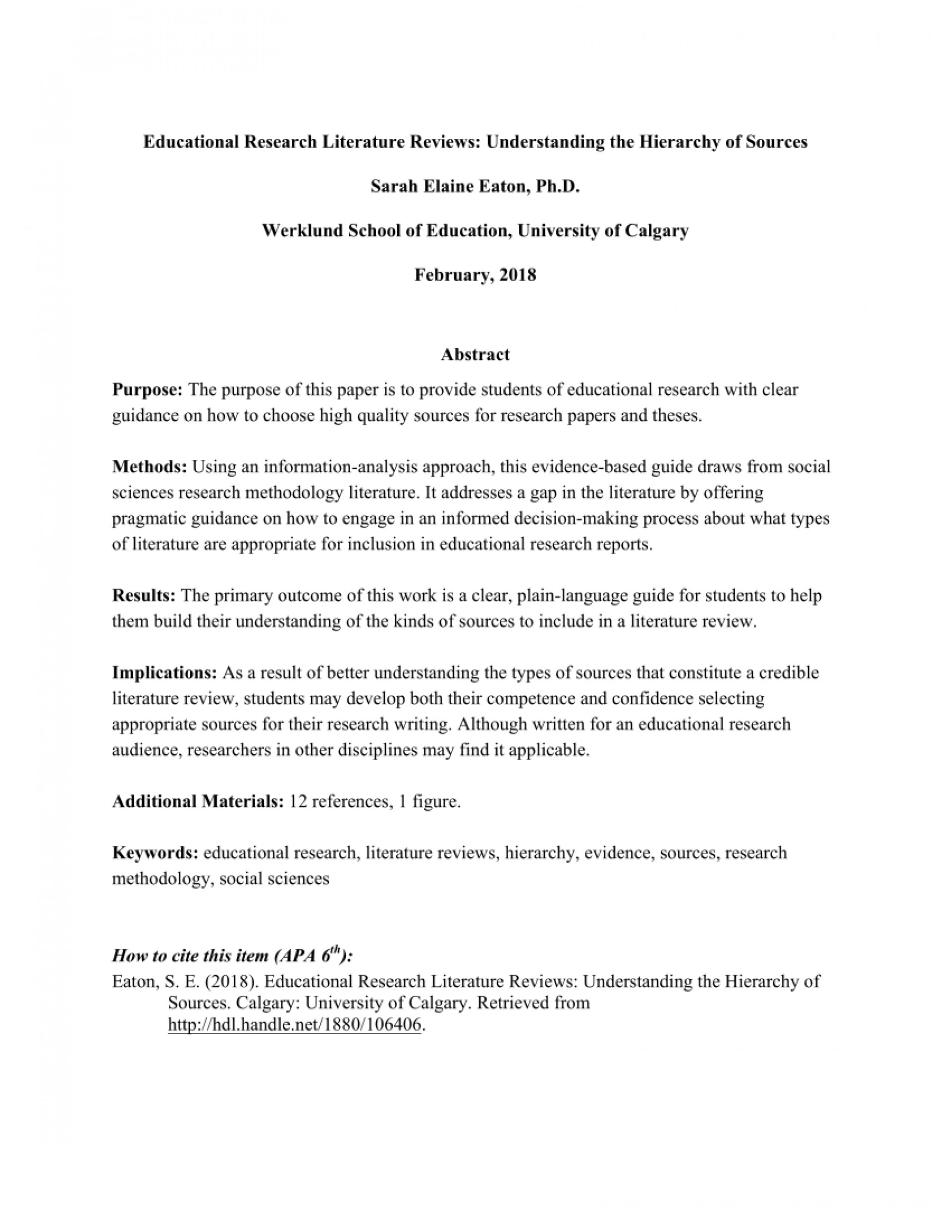 006 Example Of Review Literature In Research Paper Unusual Writing Related And Studies A Pdf 1920