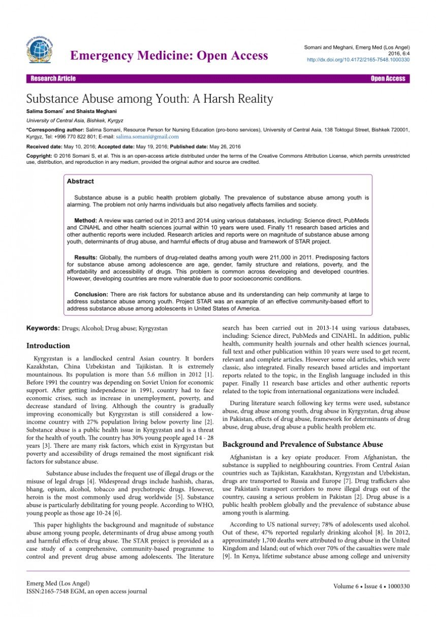 006 Example Research Paper On Alcohol Abuse Stunning