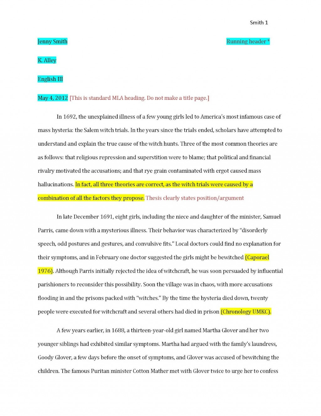 006 Examplepaper Page 1 Research Paper Citations Amazing For How To Make Bibliography Do Write Large