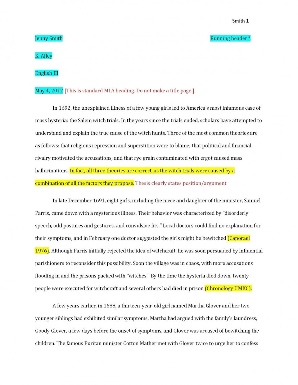 006 Examplepaper Page 1 Research Paper Citations Amazing For How To Make Bibliography Do Write 960