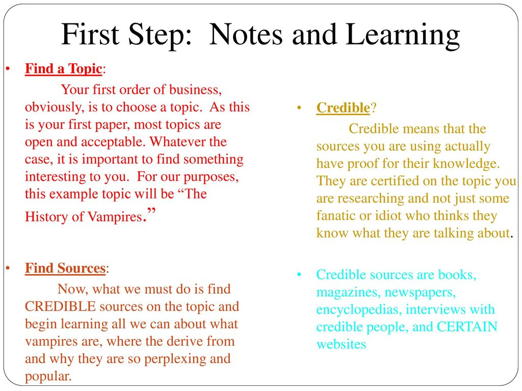 006 Firststep3anotesandlearning Research Paper How To Do Unusual Presentation Start An Oral On A Make Ppt For Full