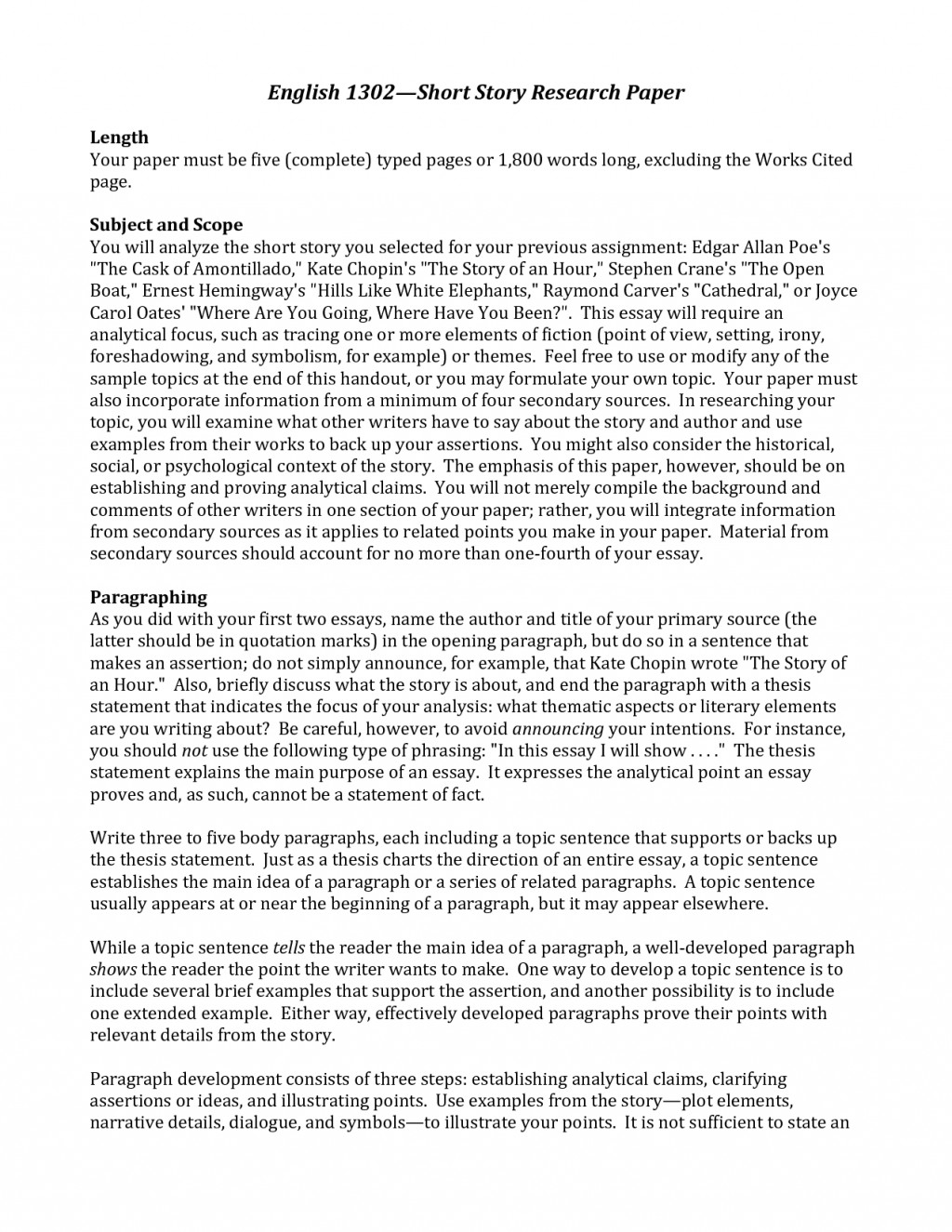 006 Good Research Paper Topics For College Dreaded English Class Large