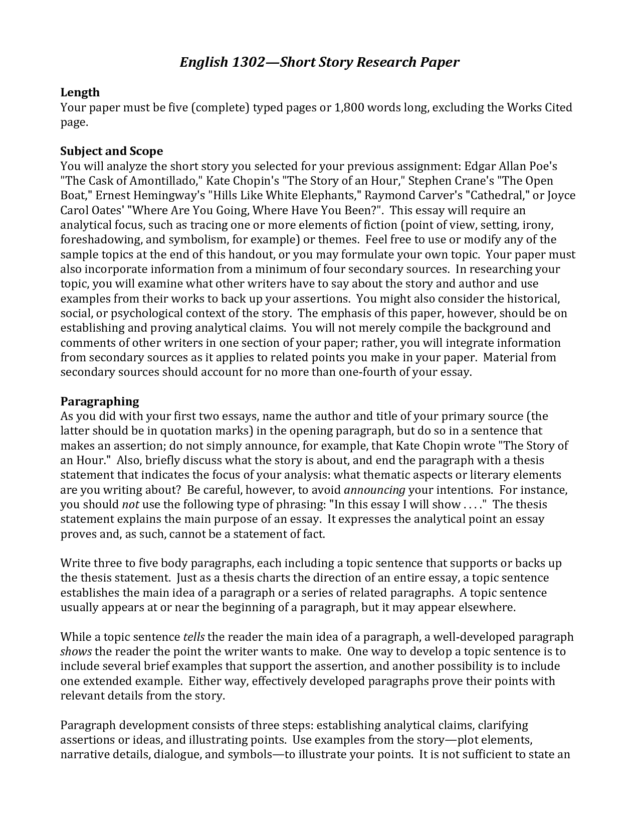 006 Good Research Paper Topics For College Dreaded English Class Full