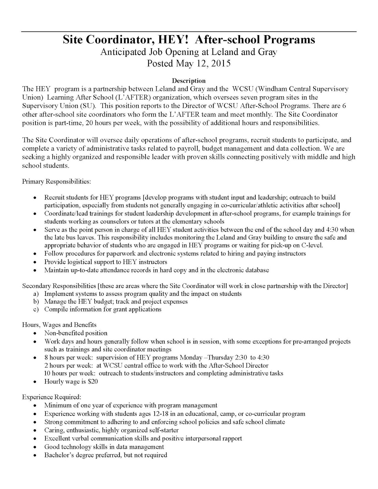 006 Heysitecoord Job Posting May201528129 Page 1 Thesis Generator For Research Remarkable Paper Statement Free Full