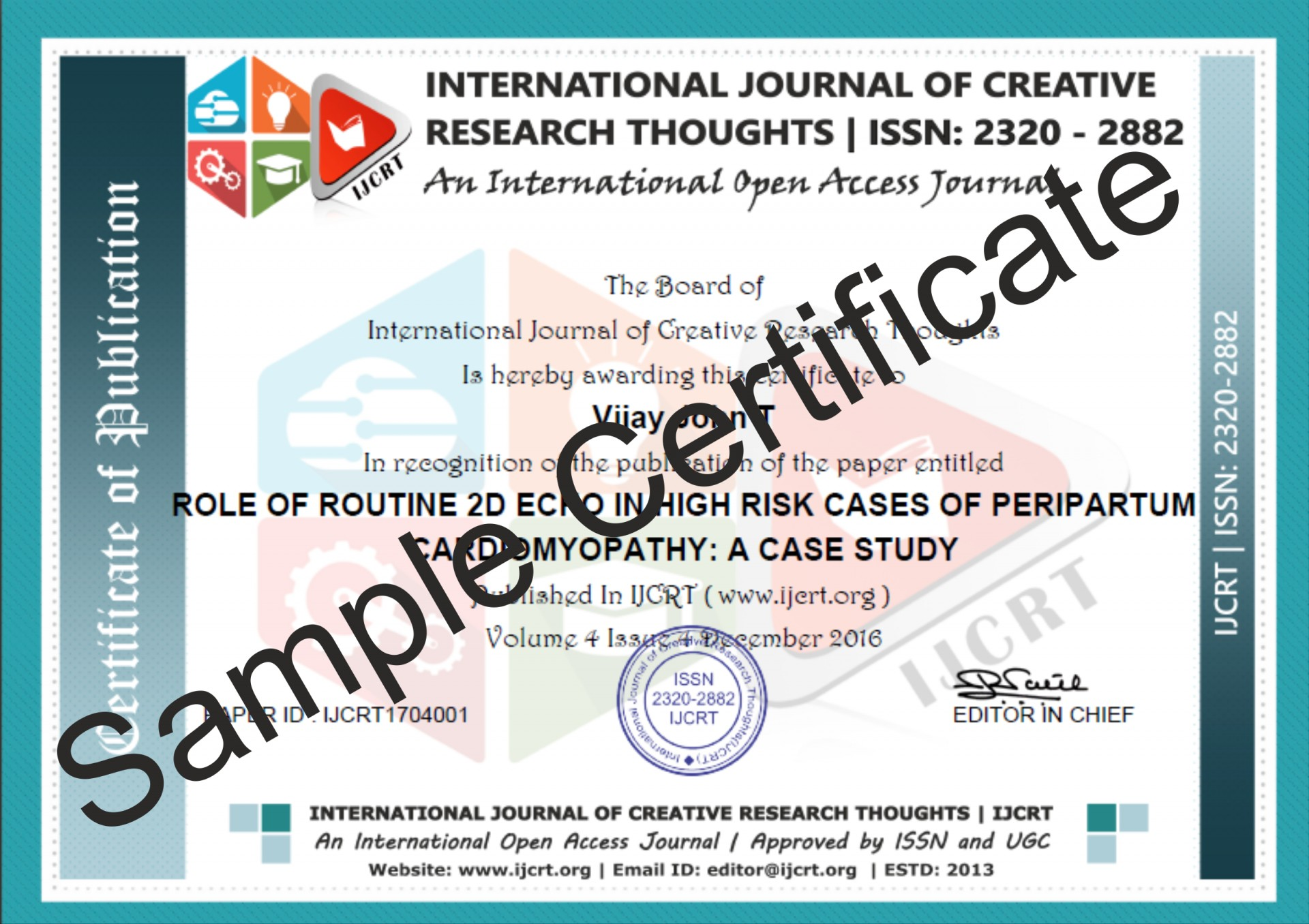 006 How To Publish Research Paper In International Journal Free Pdf Sample Certificate Unusual 1920